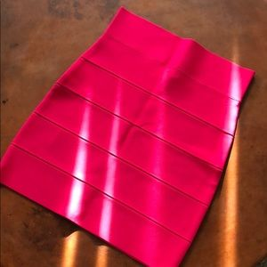 NWOT hot pink fuschia bandage mini skirt
